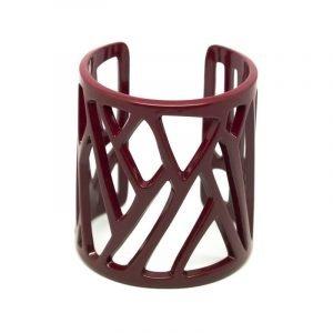 Mazinga-bracciale-h 70 mm-verniciato a polveri termoindurenti-rosso-amaranto