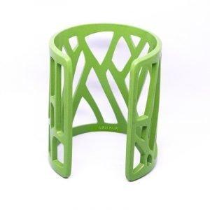 Mazinga-bracciale-alluminio-h70mm-verniciato-verde-lime-opaco