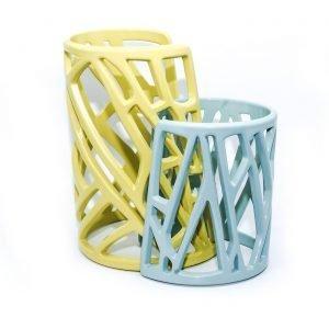 Mazinga bracciali in alluminio-h100 e h70-verniciato-giallo e celeste