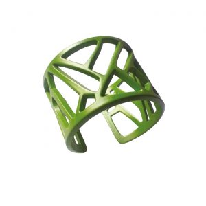 Mazinga-bracciale-alluminio-h50mm-verniciato verde lime