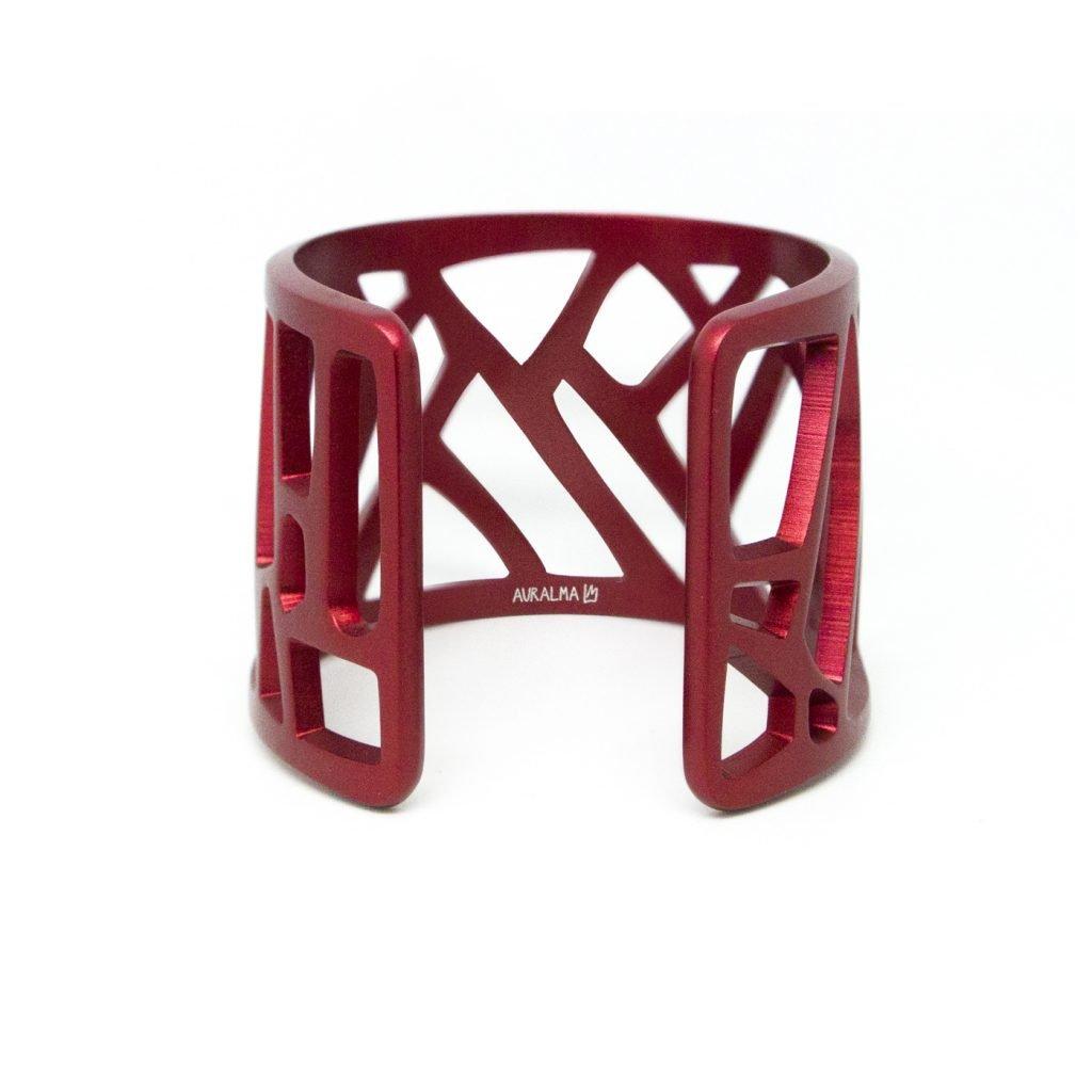 Mazinga-bracciale-alluminio-h45mm-anodizzato rosso