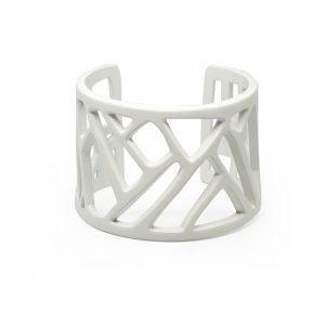 Mazinga-bracciale-alluminio-h45mm-verniciato bianco