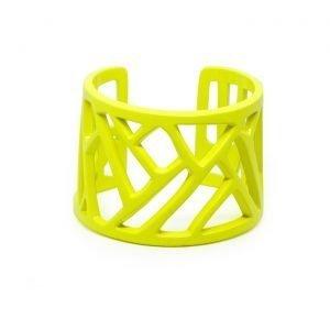 Mazinga-bracciale-alluminio-h45mm-verniciato giallo fluo