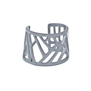 Mazinga-bracciale-alluminio-h45mm-anodizzato grigio
