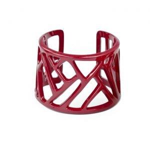 Mazinga-bracciale-alluminio-h45mm-verniciato-verde-rosso
