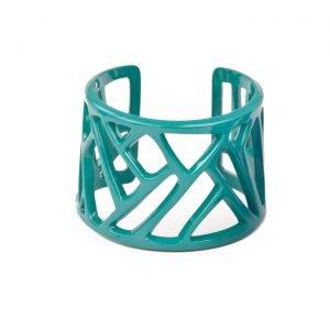 Mazinga-bracciale-alluminio-h45mm-verniciato-turchese