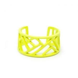 Mazinga-bracciale-alluminio-h30mm-verniciato giallo fluo