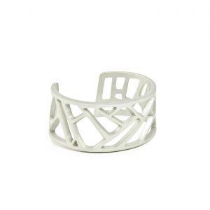 Mazinga-bracciale-alluminio-h30mm-anodizzato grigio chiaro
