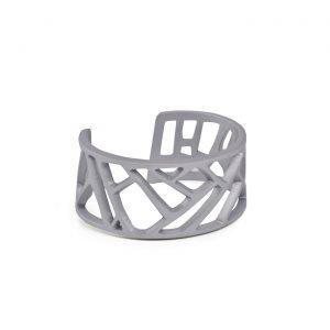 Mazinga-bracciale-alluminio-h30mm-anodizzato grigio