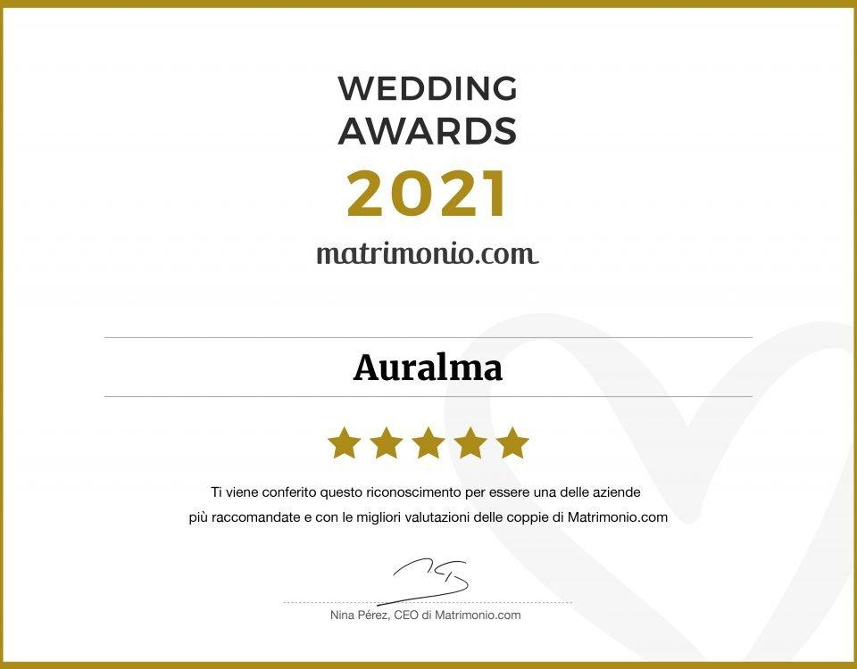Wedding Awards-targa