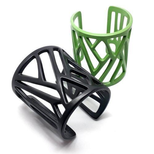 Mazinga-bracciali-nero e verde