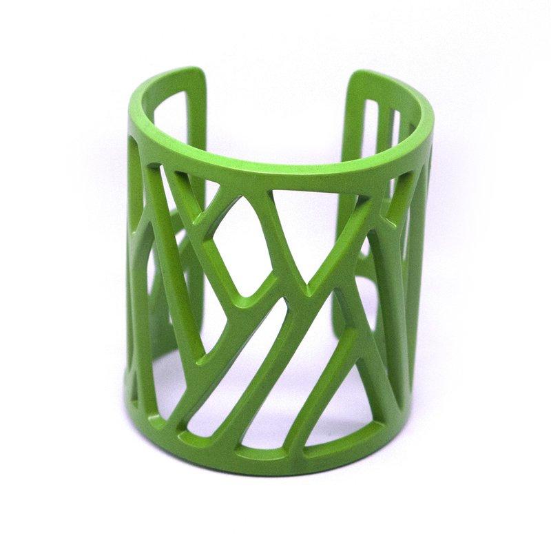 mazinga-bracciale-h70-verniciato-verde-lime-opaco-fronte